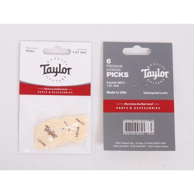 Taylor Premium Darktone Ivoroid 651 Picks, Model 70721