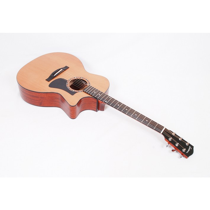 Eastman AC122-2CE Solid Cedar / Sapele Grand Auditorium with Fishman Sonitone Electronics and Gig Bag #56405