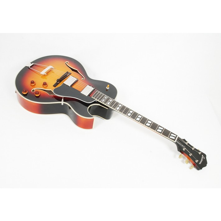 "Eastman AR372CE-SB Sunburst 16"" Archtop with Florentine Cutaway and Dual Humbuckers #00407"