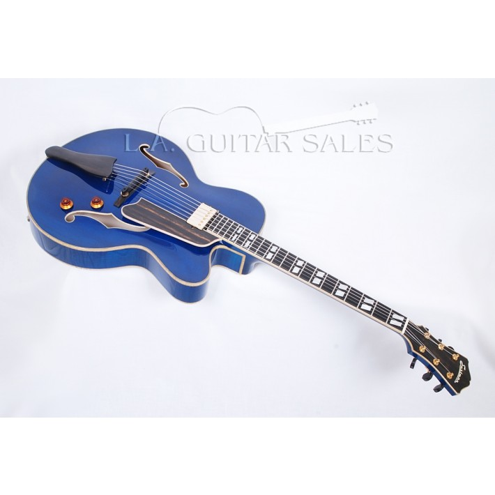 Eastman AR580CE-BL Carved Spruce Top Archtop with Trans Blue Finish #45321