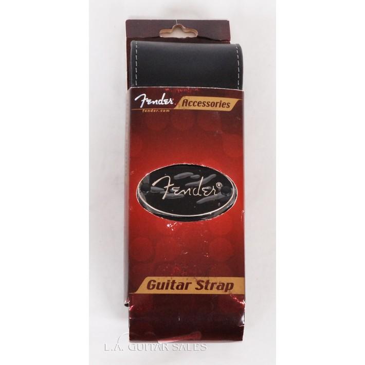 Fender Black Leather Guitar Strap