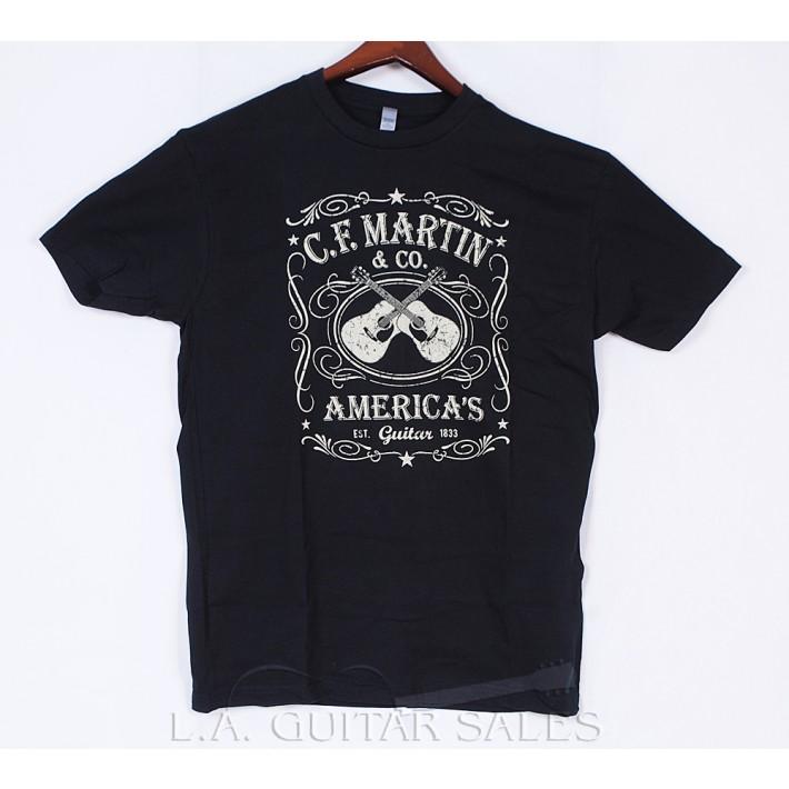 Martin 18C0000 Black Dual Guitar Tee Shirt