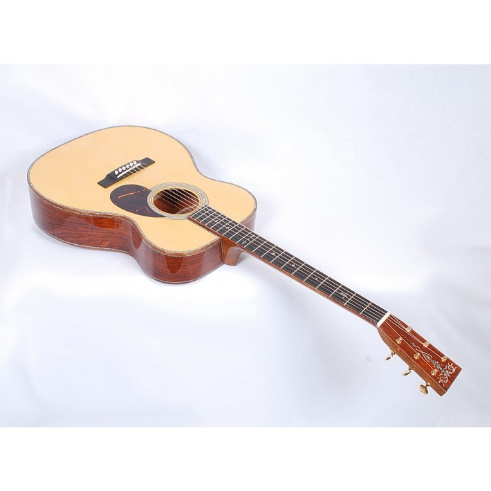 Martin Custom OM-45 / Premium Cocobolo / Grade 8 Alpine Spruce / Hide Glue Construction /Flamed Koa Binding - #97526