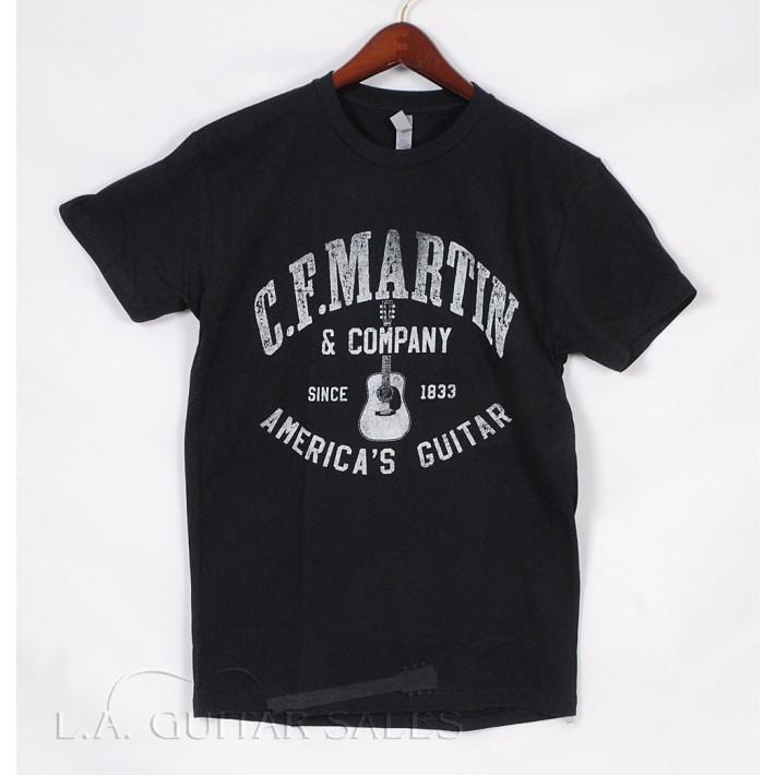 "Martin ""America's Guitar"" Black Tee Shirt Model 18C0006"
