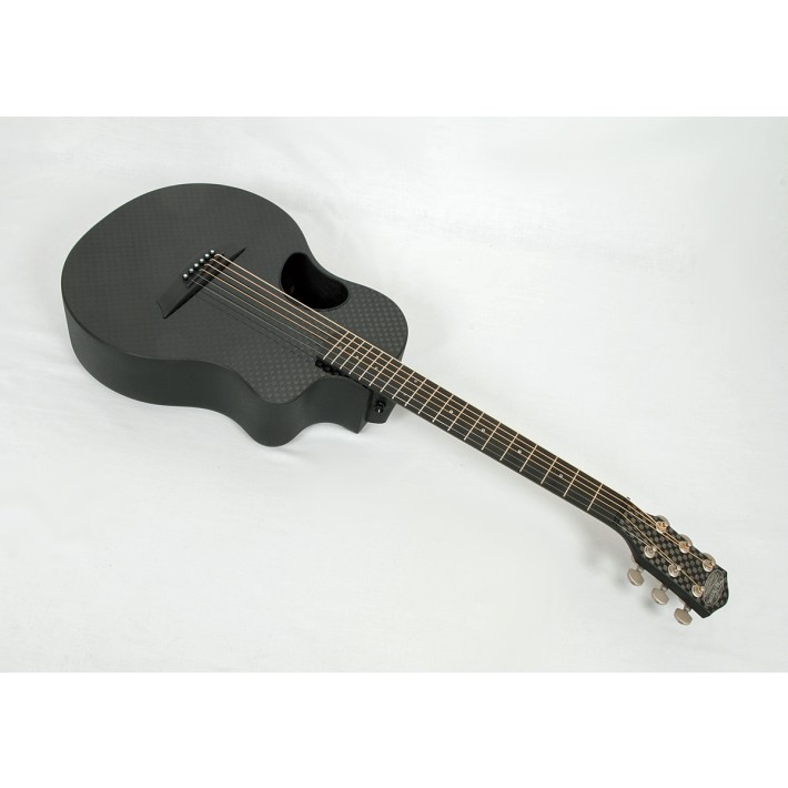McPherson Carbon Fiber Touring Basketweave Travel Guitar with Satin Tuners and Electronics #11034