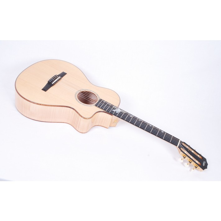 Taylor Custom 12-Fret Nylon String Grand Concert (GC) Flame Maple / Sitka Spruce / Flamed Koa Binding / Tropical Vine Inlay #6319