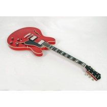"Eastman T486B-RD Deluxe 16"" Thinline Hollowbody in Trans Red #02201"