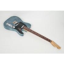 Fender Limited Edition American Performer Sandblasted Telecaster - Daphne Blue With Gig Bag