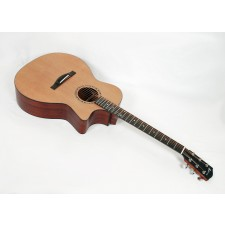 Eastman AC122-2CE Solid Cedar / Sapele Grand Auditorium with Fishman Sonitone Electronics and Gig Bag #00885