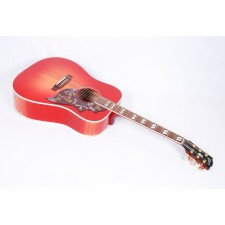 Gibson Hummingbird Quilted Maple Spruce Dreadnought Cherry Burst With Case #44035