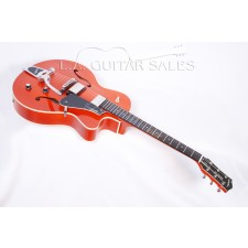 Godin 5th Avenue Uptown GT with Bigsby - Transparent Red Flame