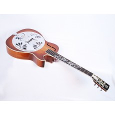 Dobro Model 90 Custom Shop Roundneck with Florentine Cutaway and Floral Inlays Vintage 2001