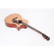 Eastman AC122-2CE Solid Cedar / Sapele Grand Auditorium with Fishman Sonitone Electronics and Gig Bag - Contact us for ETA