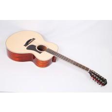 Eastman AC330E-12 12-string Mahogany Spruce Jumbo With Fishman Electroics #56404