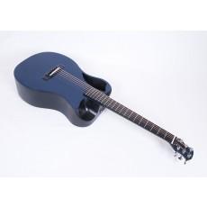 Journey Instruments OF660-BM Matte Blue Carbon Fiber Travel Guitar With Electronics and TSA Compliant Case