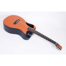 Journey Instruments OF660-O1M Matte Orange Carbon Fiber Travel Guitar With Electronics and TSA Compliant Case