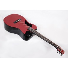 Journey Instruments OF660-R Red Carbon Fiber Travel Guitar With Electronics and TSA Compliant Case