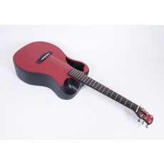 Journey Instruments OF660-RM Matte Red Carbon Fiber Travel Guitar With Electronics and TSA Compliant Case