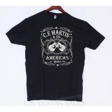 Official Martin 18C0000 Black Dual Guitar Tee Shirt