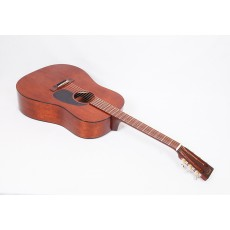 Martin Custom Size D 15S Style All Mahogany 12-Fret Dreadnought With Tortoise Binding and Gloss Finish #79484