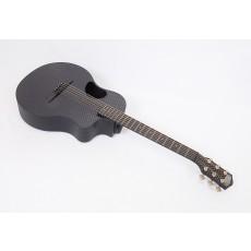 McPherson Touring Carbon Fiber Travel Guitar Basketweave Top, Black Binding Satin Tuners & Electronics #10466