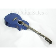 RainSong P14B 14-Fret Parlor in Gloss Blue with Fishman Prefix Plust T Electronics