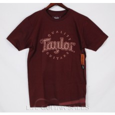 Taylor Guitars Antique Logo T-Shirt Burgundy 1458