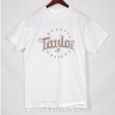 Taylor Guitars Antique Logo T-Shirt White 5279