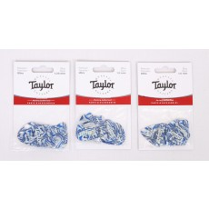 Taylor Premium 351 Thermex Ultra Picks, Blue Swirl, 6-Pack #80726,80727,80728