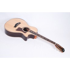 Taylor Guitars 812ce 12-Fret DLX Deluxe Model with Adirondack Bracing, Armrest, and ES2 Electronics #36064