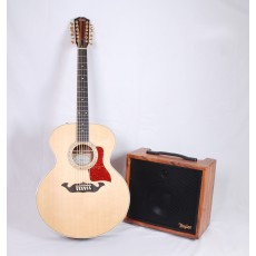 Taylor Guitars BR-VI Builders Reserve Koa Spruce 12-String Jumbo with Matching Amp #1108202066