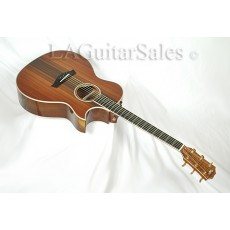 Taylor Custom Grand Auditorium (GA) AA Grafted Walnut / Sinker Top / Flamed Maple Binding / Florentine Cutaway / ES Electronics