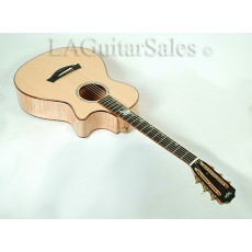 Taylor Guitars Custom 12-Fret Grand Concert (GC) Flame Maple / Sitka Spruce / Flamed Koa Binding / Tropical Vine Inlay S/N 53145