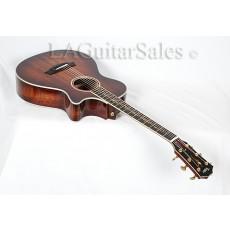 Taylor Custom 12-Fret Grand Concert (GC) Full Master Koa / Figured Mahogany Neck Maple Binding / Vine Inlay / ES2 Electronics