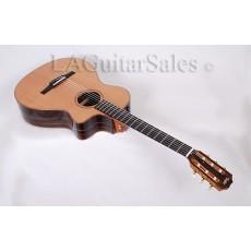 Taylor Guitars Custom 12-Fret Nylon String / Macassar Ebony / Koa Binding / Cedar Top / ES Electronics s/n 1110074111