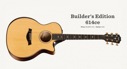 Taylor Announces New Builder's Edition and V-Class Bracing in New 300 and 400 Series Models
